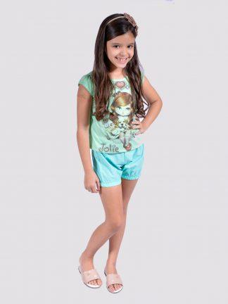 Conjunto Feminino Infantil Ref  002524 (lote 10 UN) c0558551c4ea3