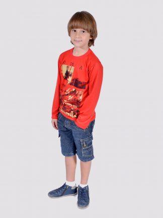 Camisa Infantil Gola Careca Manga Longa Ref  003500 (lote 10 UN) b1ac52fd2d766